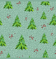 geometric seamless pattern christmas background vector image vector image