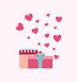 gift box and calendar vector image