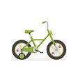 green bike with training wheels kids bicycle vector image