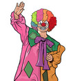 happy colorful clown vector image