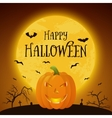 Happy Halloween pumkin background vector image