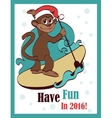 Happy Surfing Paddleboarding Holidays vector image