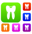 human tooth set collection vector image vector image