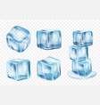 ice cubes freeze water with light reflection vector image vector image