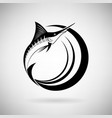 Icon Marlin Fish vector image vector image