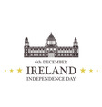independence day ireland vector image vector image