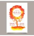 Invitation with watercolor tree vector image vector image