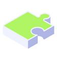 isometric puzzle icon puzzle element isolated vector image