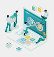 isometric technology process software vector image vector image