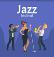 jazz poster backgroun vector image