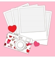 love photo camera background vector image vector image