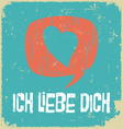 Love poster in German vector image vector image