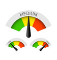low medium and high gauges vector image vector image