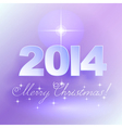 Merry Christmas light background with star vector image vector image