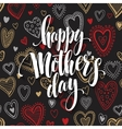 Mothers Day greeting card Hand drawn vector image vector image