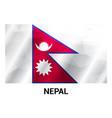 nepal flag design vector image