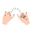 promise hands gesturing minimal vector image vector image