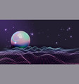 rave retro futuristic style waves vector image vector image