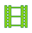 reel of film sign lemon scribble icon on vector image vector image
