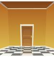 Room Door - Yellow vector image vector image