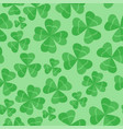 seamless pattern clover leaves st patricks day vector image vector image