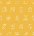 seamless pattern with mayan glyphs vector image vector image