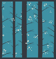 seamless winter forest evening pattern vector image