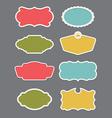 set 8 frame or label design elements vector image