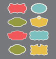Set of 8 frame or label design elements vector image vector image
