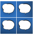 set of blue pop art retro speech bubble vector image