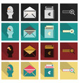 set of business simple icons economic concept in vector image vector image