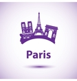 silhouette of Paris City skyline vector image vector image