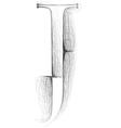 Sketch font Letter J vector image vector image