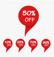 special offer sale red tag isolated vector image vector image
