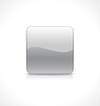 Square silver button vector image vector image