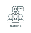 teaching line icon linear concept outline vector image vector image
