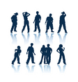 teenagers silhouettes vector image vector image