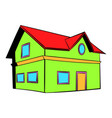 two-storey house icon icon cartoon vector image vector image