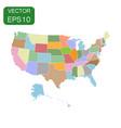 usa map icon business concept america politics vector image vector image