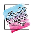 Valentines day letteringframeWatercolor square vector image vector image