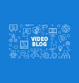 video blog horizontal in thin vector image vector image