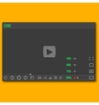 Video player vector image vector image