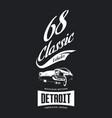 vintage american vehicle t-shirt logo vector image vector image