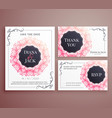 wedding invitation card template design set vector image