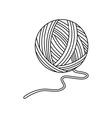 Yarn ball vector image vector image