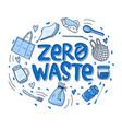 zero waste hand drawn vector image