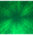 Abstract electronics green background vector image