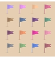 Set paper flags vector image