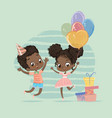 african american child birthday party character vector image vector image