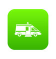 ambulance icon digital green vector image vector image